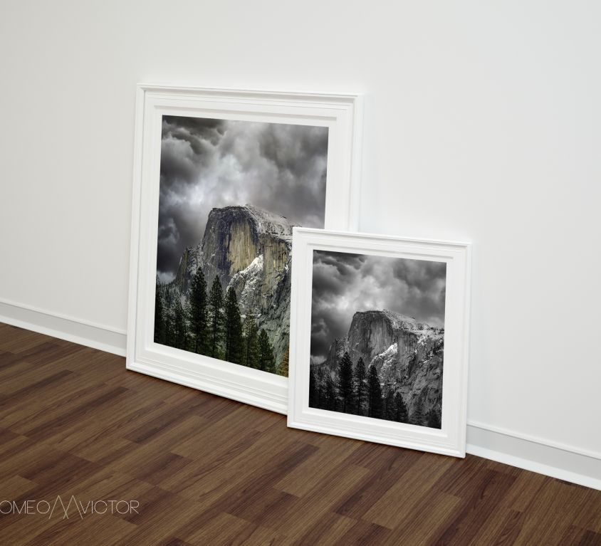 Half Dome DOUBLE-RIGHT-POSTER-FRAME-MOCKUP