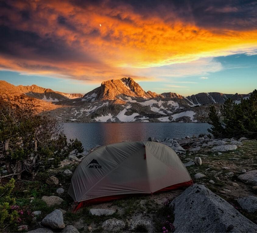 Muriel Lake Sunset